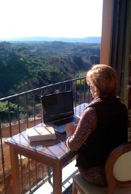 working on the balcony