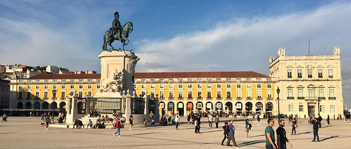 Beautiful square in Lisbon